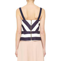 Striped Bodice Top Multicolour
