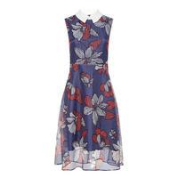 Floral Print Dress Navy