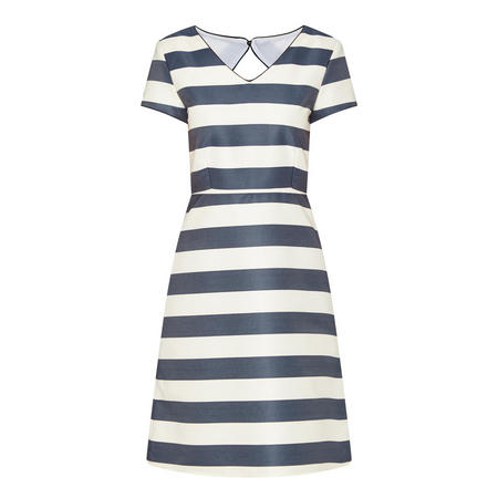 A-Line Stripe Dress Navy