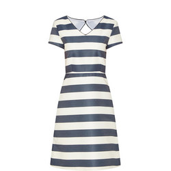 A-Line Stripe Dress Navy