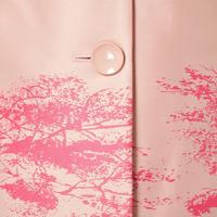 Tree Print Coat Pink