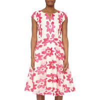 Floral Motif Organza Dress Multicolour