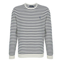 Stripe Crew Neck Sweater Cream