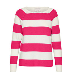 Kasmira Striped Sweater Pink