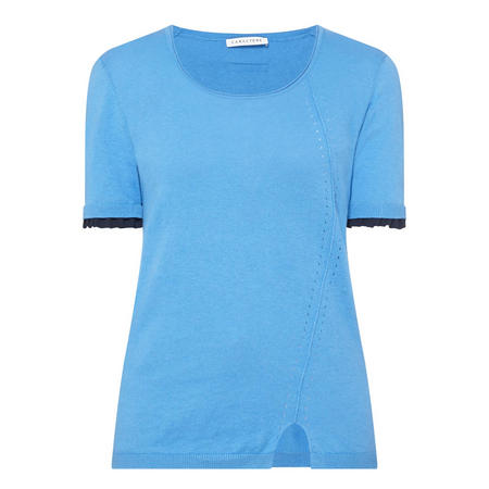 Short Sleeve Sweater Blue
