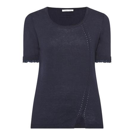 Short Sleeve Sweater Navy