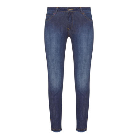 Skinny Fray Jeans Blue