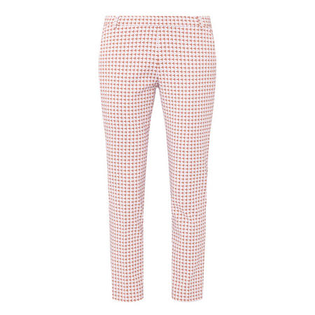 Check Jacquard Trousers Pink