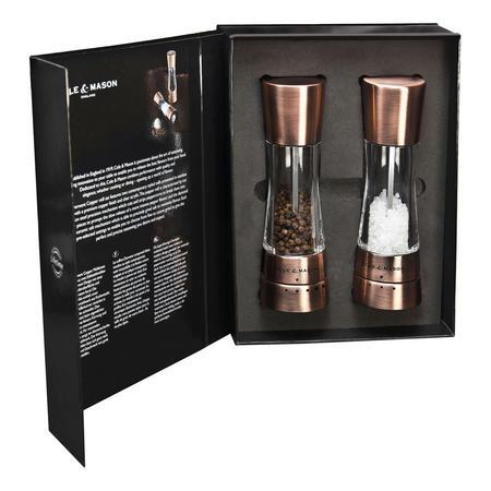 Gourmet Precision Derwent Salt & Pepper Mill Gift Set 190 mm