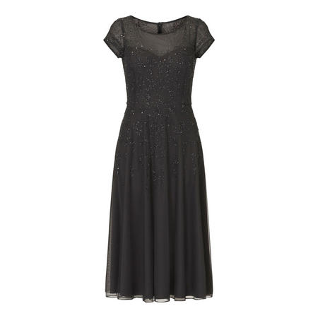 Sequin Midi Dress Grey