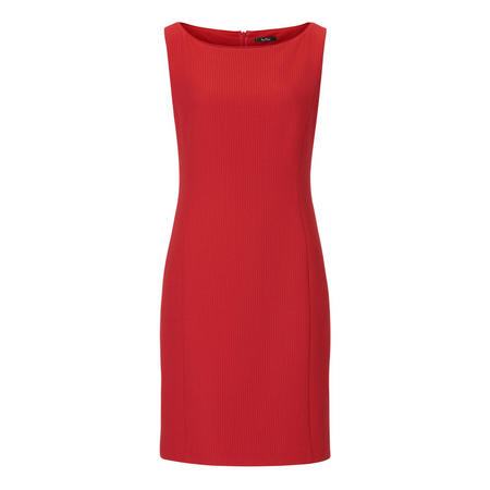 Boat Neck Pencil Dress Red