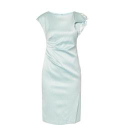 Lace Sleeve Dress Blue