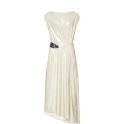 Jersey Drape Dress Cream