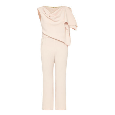 Layered Detail Jumpsuit Pink