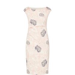 Hannah Textured Dress Pink