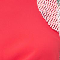 Frill Detail Pencil Dress Pink