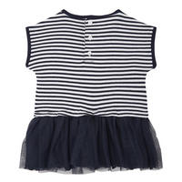Babies Tutu Trim Dress Navy