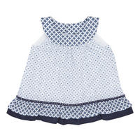 Babies Sleeveless Dress Blue