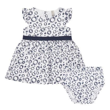 Babies Circle Print Dress White