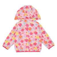 Girls Floral Rain Jacket Pink