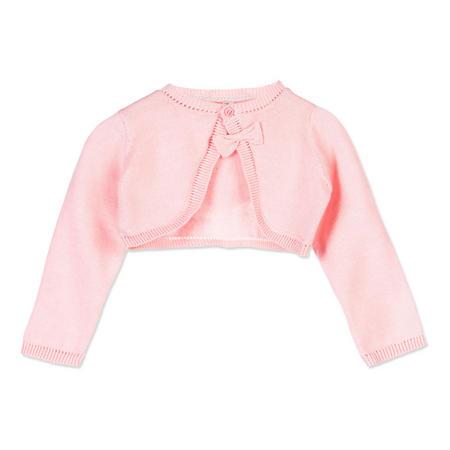 Babies Bow Detail Cardigan Pink