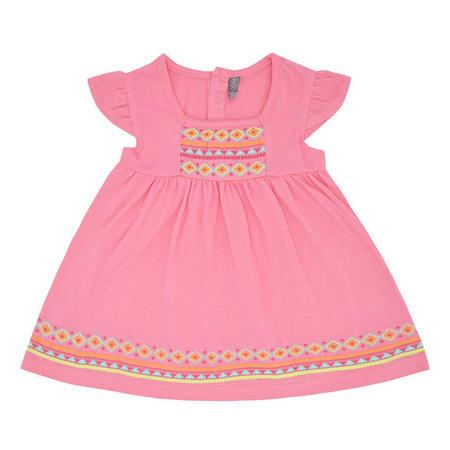 Babies Aztec Print Dress Pink