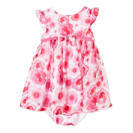 Babies Poppy Print Dress Pink