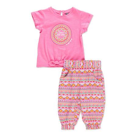 Babies Sweet Dreams T-Shirt And Leggings Set Pink