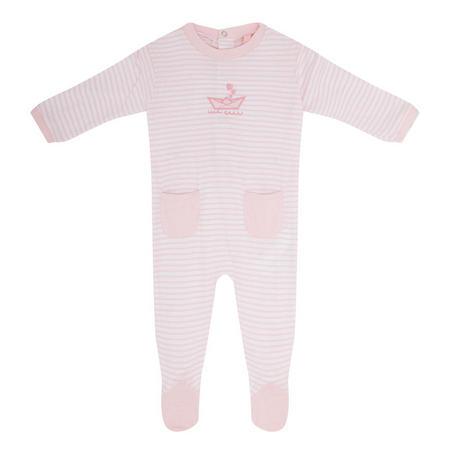 Babies Stripe Romper Pink