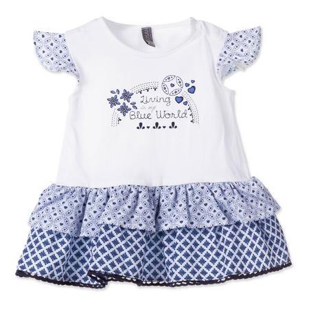 Babies Patterned Tutu Bottom Dress Blue