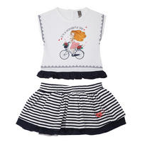 Babies Two-Piece T-Shirt & Tutu Set White