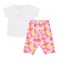 Babies Floral T-Shirt And Leggings Set Pink