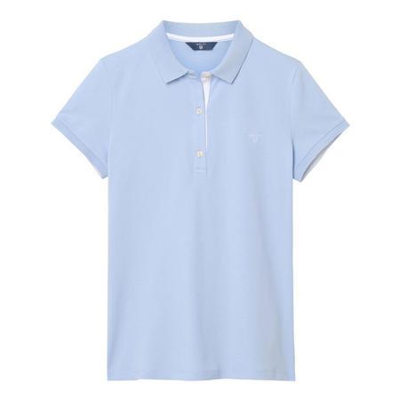 Pique Polo Shirt Blue