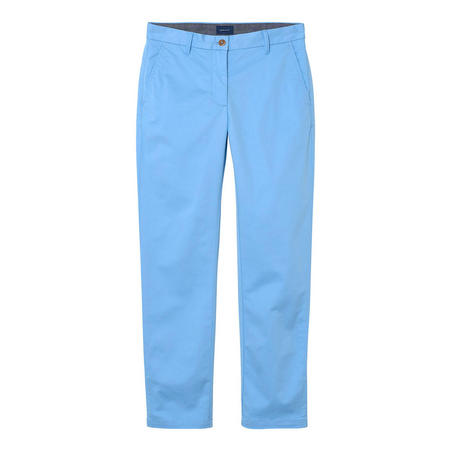 Cropped Chino Trousers Blue