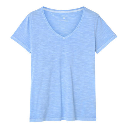 Sunbleached V-Neck T-Shirt Blue