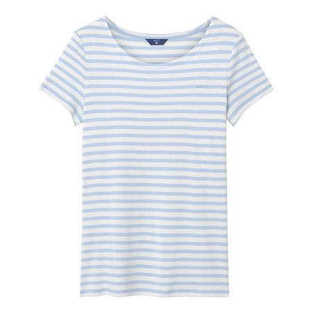 Stripe Rib T-Shirt Blue