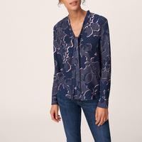 Flower Bow Shirt Blue