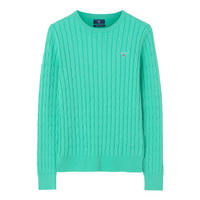 Cable Knit Crew Neck Sweater Blue