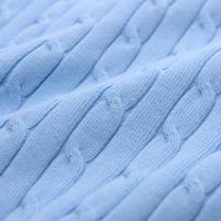 Cable Knit V-Neck Sweater Navy