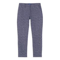 Printed Cropped Trousers Blue