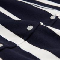 Breton Stripe Cardigan Navy