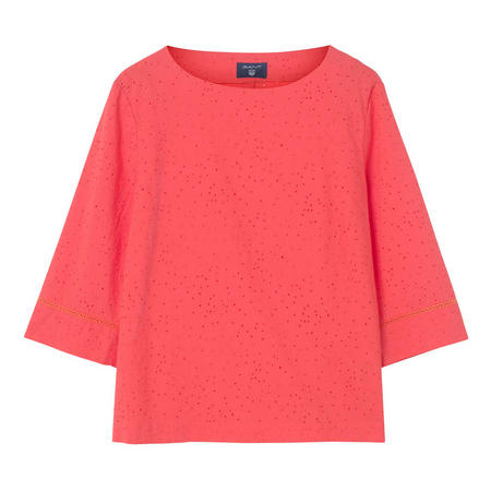 Broderie Anglaise Top Orange