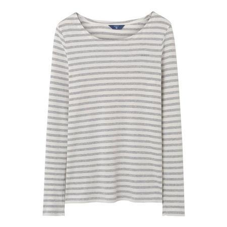 Striped Rib Long Sleeve T-Shirt Grey