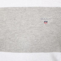 Piqué Stripe Sweater Grey