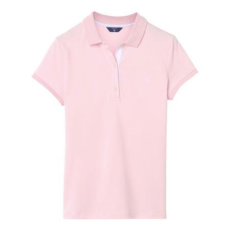 Contrast Collar Pique Polo Shirt Pink
