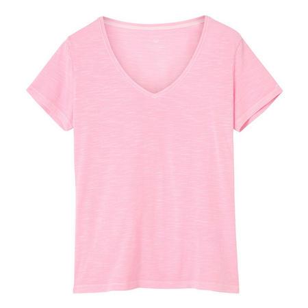 Sunbleached V-Neck T-Shirt Pink