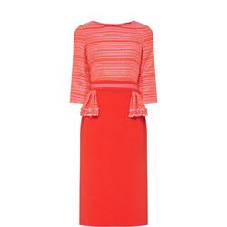 Myra Tweed Dress Red