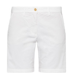 Twill Chino Shorts White