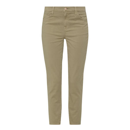 Ruby High Rise Cropped Jeans Brown