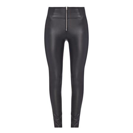 WR UP Leather Effect Skinny Jeans Black